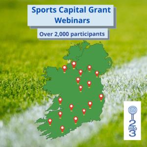 sports capital grants 2into3 webinar series around Ireland